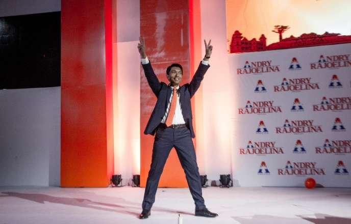 L'ancien président malgache Andry Rajoelina lors d'un meeting à Antananarivo, le 1eraoût 2018.