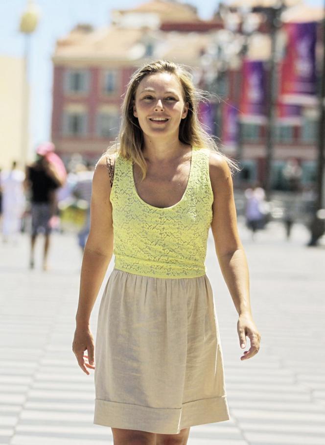 Caroline Magne, l'épouse d'Eric Ciotti à Nice, en 2012.