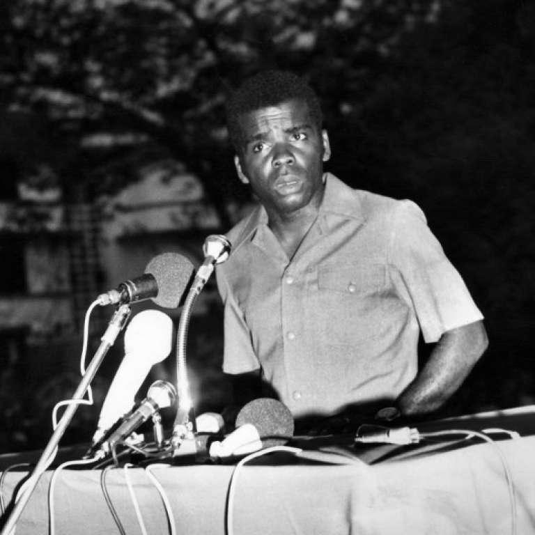 L'ancien président congolais Marien Ngouabi, à Brazzaville, le 23novembre 1971.