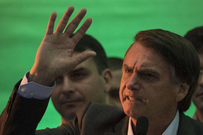 Le candidat du parti d'extrême droite brésilien PSL à l'élection présidentielle, Jair Bolsonaro, à Rio de Janeiro, le 22 juillet.