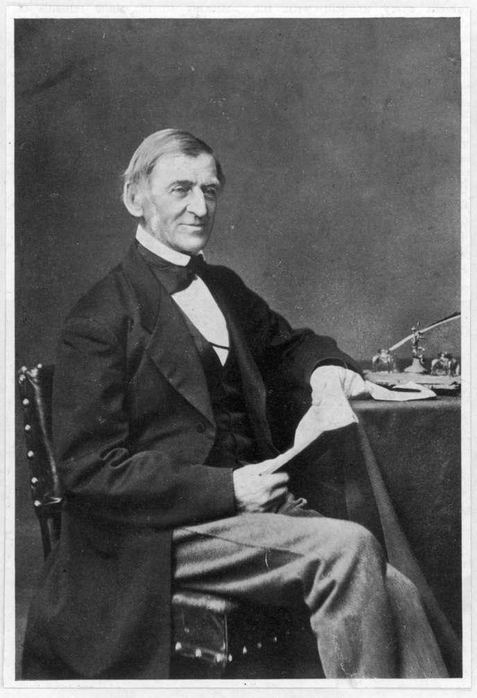 Le poète et essayiste Ralph Waldo Emerson (1803-1882), photo non datée.