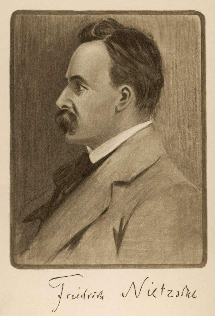 Le philosophe Friedrich Nietzsche (1844-1900), portrait anonyme.
