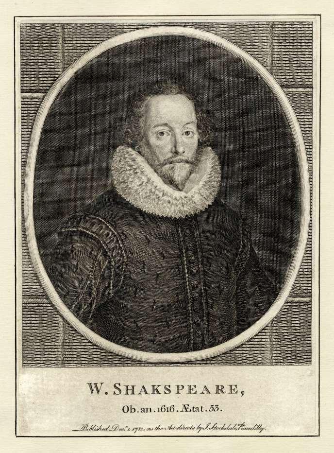 William Shakespeare (1564 - 1616), gravure non datée