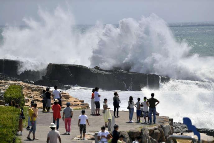 La plage de Shirahama, dans la préfecture de Wakayama au Japon, jeudi 23 août.