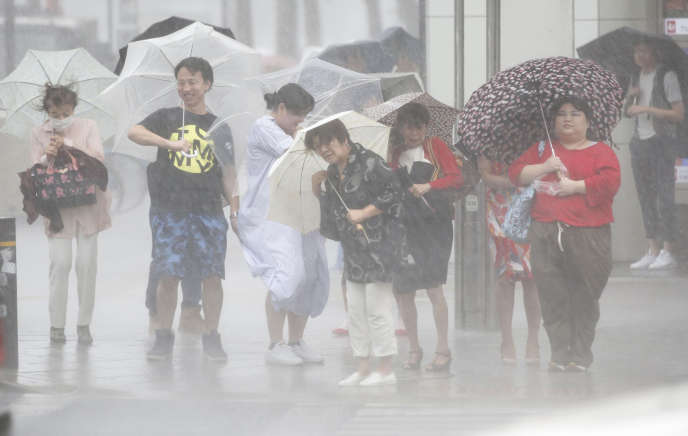 De fortes pluies ont déjà touché la ville de Nagoya le 23 août.