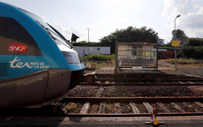 La gare de Chantonnay, en Vendée, sur la ligne Les Sables d'Olonnes-Tours, le 13 juin.