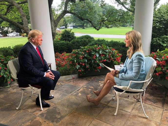 Image extraite de l'entretien accordé par Donald Trump à la chaîne américaine Fox News et enregistrée à la Maison Blanche le 22 août.