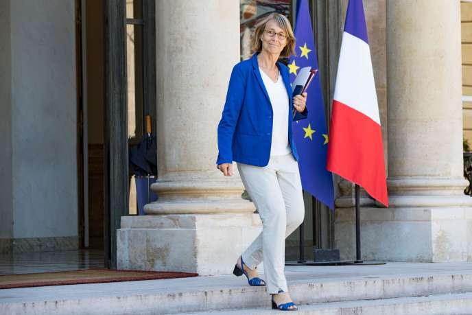 La ministre de la culture, Francoise Nyssen, à sa sortie du conseil des ministres, au palais de l'Elysée, le 3 août 2018.
