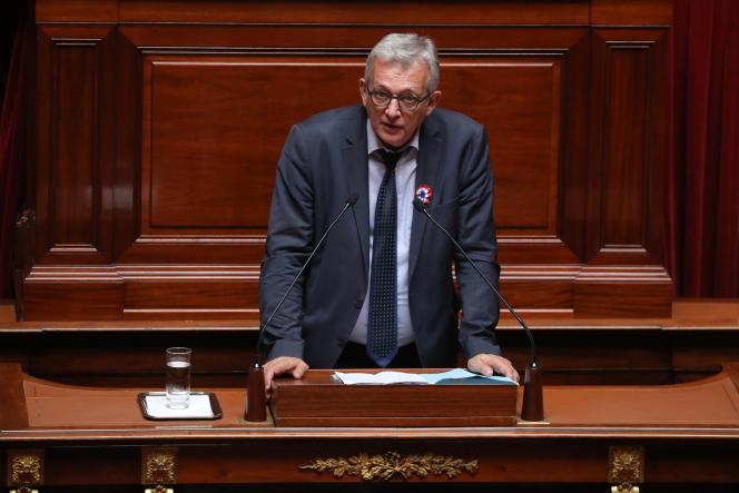 Le secrétaire national du Parti communiste, Pierre Laurent, le 9 juillet 2018 à l'Assemblée nationale.
