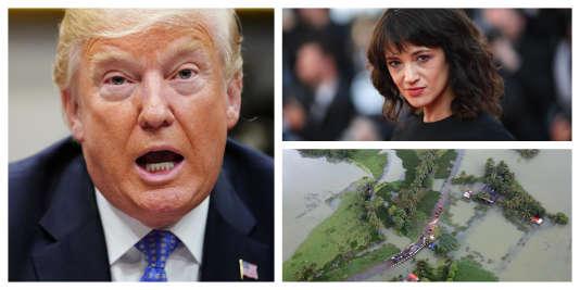 Trump ébranlé, inondations en Inde, Asia Argento : l'actualité à retenir cette semaine