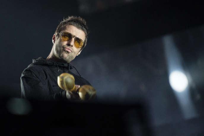 Liam Gallagher en concert près de Zurich, le 24 août 2018.
