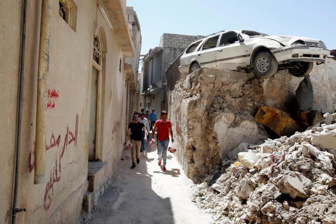 Dans la vieille ville de Mossoul, le 22 août.