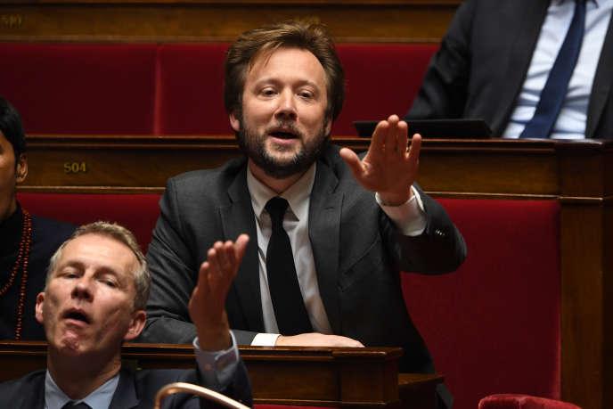 Le porte-parole du Parti socialiste, Boris Vallaud, le 7 février, à l'Assemblée nationale.