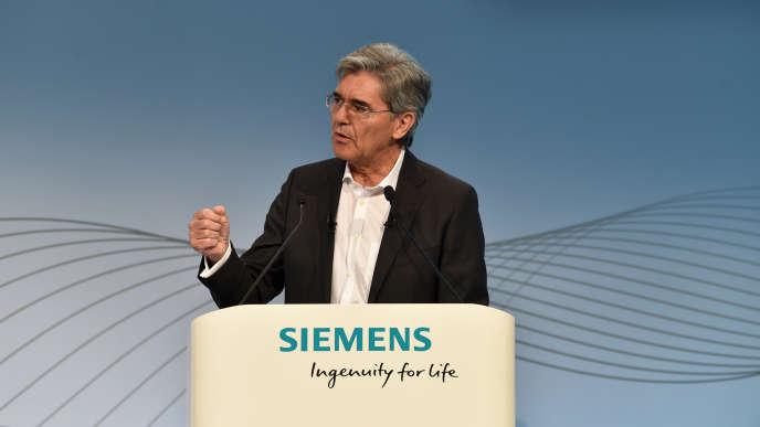 Joe Kaeser, le patron de Siemens, à Munich (sud de l'Allemagne), le 2 août.