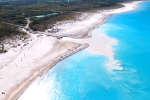 La plage deRosignano Solvay, en Toscane, Italie.