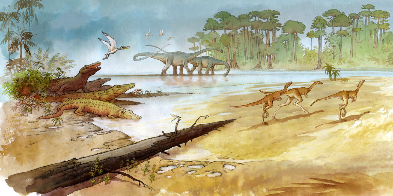 Depuis 2010, Mazan, qui est auteur de BD, suit les fouilles sur le site d'Angeac-Charente. Ce féru de paléontologie s'attache à rendre compte de l'écosystème qui peuplait la région d'Angeac-Charente, voici 140 millions d'années.