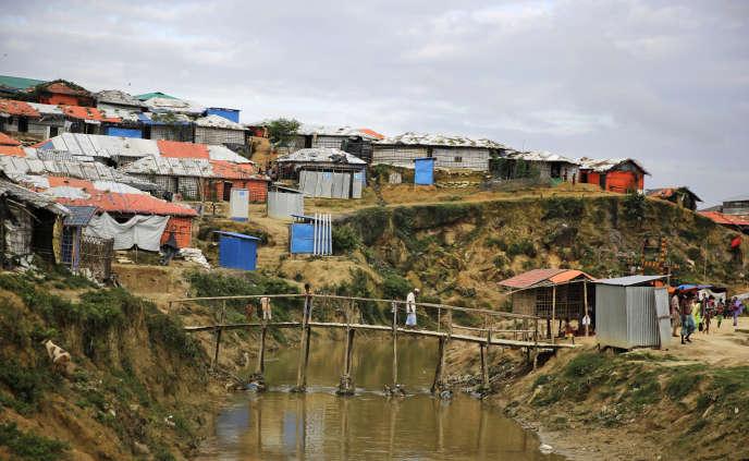 Le camp de réfugiés Rohingya de Kutupalong dans le district de Cox's Bazar (Bangladesh) le 24 août.