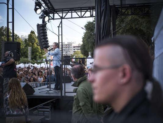 Discours de Jean-Luc Mélenchon, lors de l'université d'été de La France Insoumise au parc Chanot, à Marseille, le samedi 25 août.