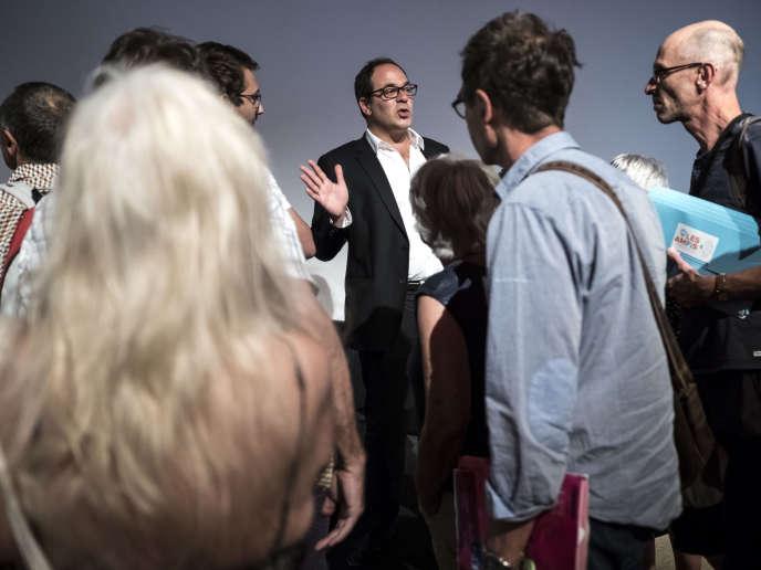 Emmanuel Maurel (PS) durant l'université d'été de La France Insoumise au parc Chanot de Marseille, le 25août.