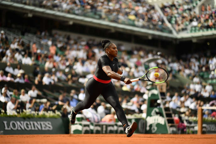 Serena Willaims, à Roland Garros, le 29 mai 2018.