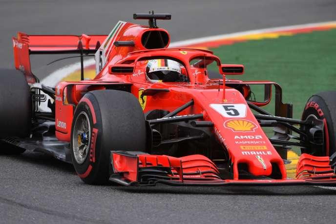 Sebastian Vettel lors du GP de Belgique, le 26 août.