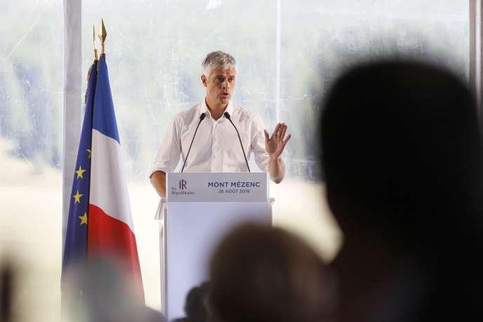 Laurent Wauquiez, au Mont-Mézenc (Haute-Loire), le 26 août.