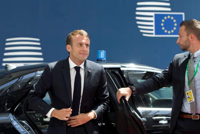 Emmanuel Macron à Bruxelles, le 28 juin.