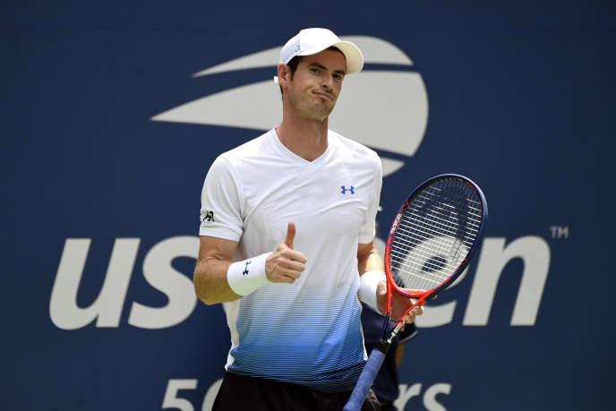 Andy Murray lors de son premier tour de l'US Open face à l'Australien Duckworth, lundi27 août.
