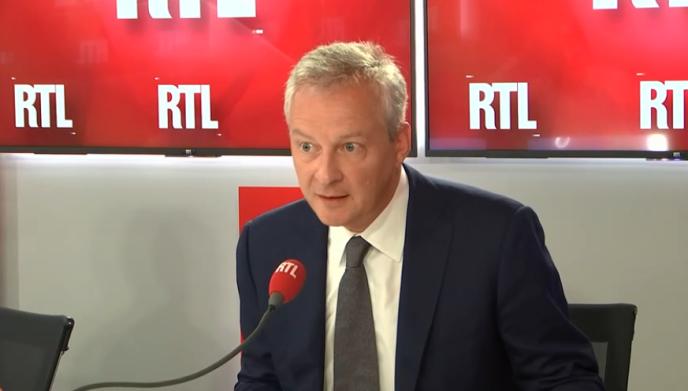 Bruno Le Maire sur RTL, lundi 27 août.