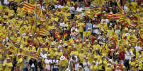 Les supporteurs des Dragons Catalans, en 2009.