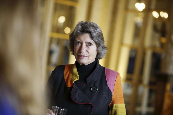 Véronique Cayla, la présidente d'Arte, à Paris, en janvier 2017.