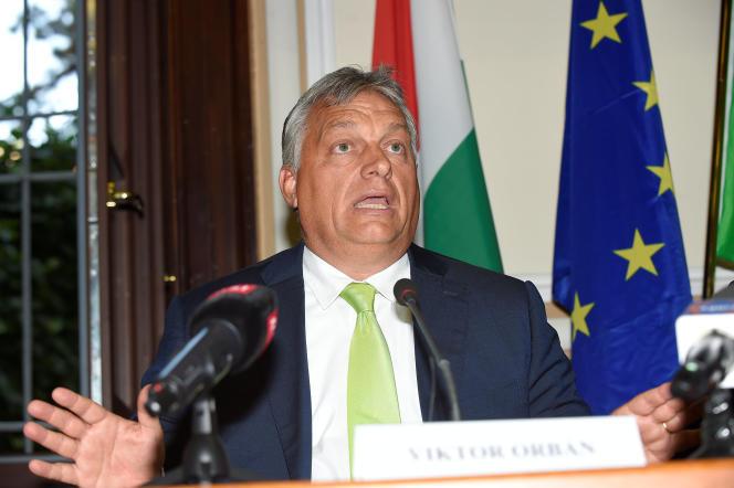 Le premier ministre hongrois, Viktor Orban, à Milan (Italie), le 28 août.
