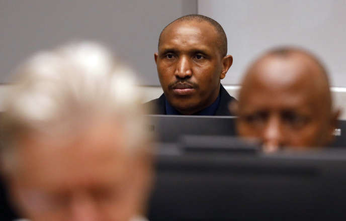 Le Congolais Bosco Ntaganda, le 28août 2018, à la Cour pénale internationale, où il est poursuivi pour crimes contre l'humanité et crimes de guerre.