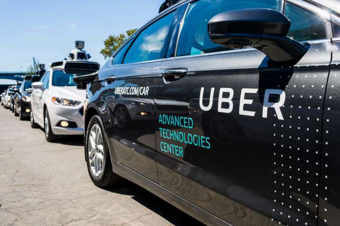 Une voiture autonome d'Uber à Pittsburgh, en Pennsylvanie.