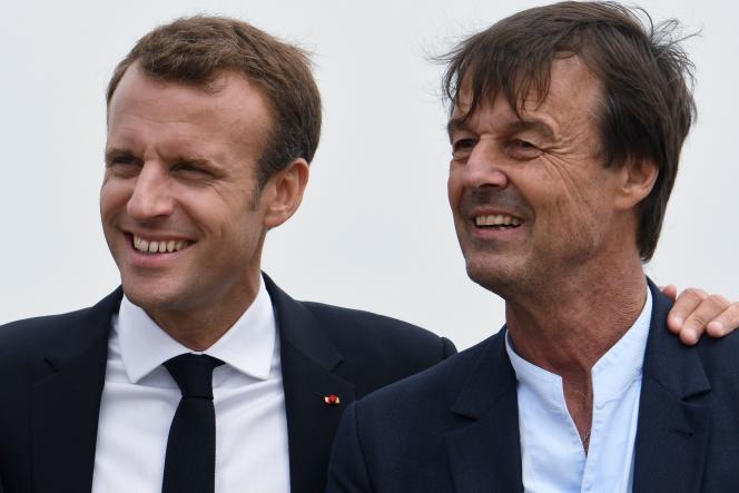 Emmanuel Macron et Nicolas Hulot, le 20 juin.