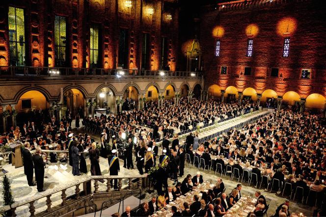 La dernière cérémonie de remise du prix Nobel de littérature, le 10 décembre 2017,à Stockholm (suède).