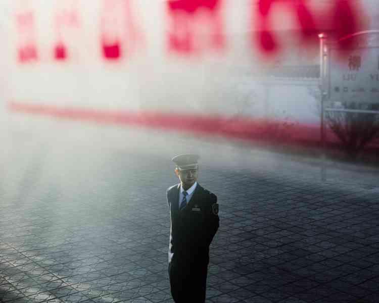Depuis le train qui relie Lanzhouà Urumqi, capitale de la région autonomeouïgoure du Xinjiang.