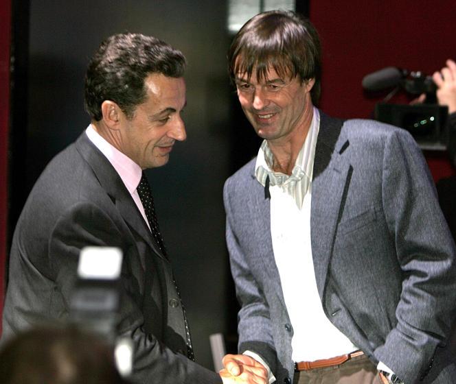 Avec le candidat à la présidentielle Nicolas Sarkozy, le 31 janvier 2007.