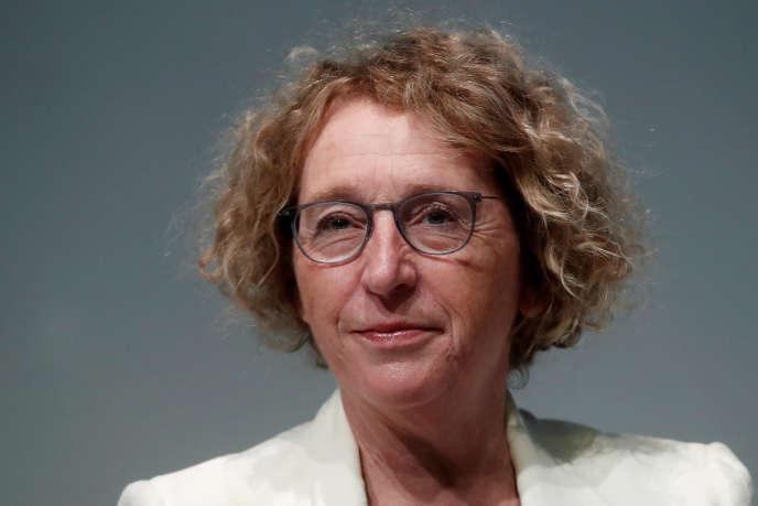 La ministre du travail, Muriel Pénicaud, assiste à l'université d'été du Medef, au campus de l'école de commerce HEC, à Jouy-en-Josas, le 29 août.