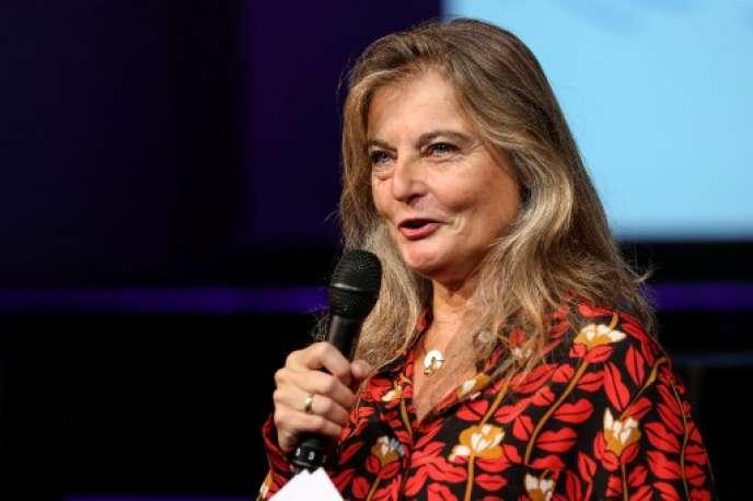 Sandrine Treiner, directrice de France Culture, le 29 août, lors de la présentation des nouveaux programmes de la radio.