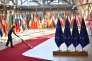 Préparatifs pour le sommet européen du 28 juin, à Bruxelles.