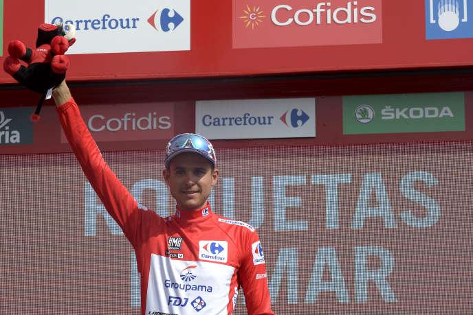Rudy Molard, maillot rouge du Tour d'Espagne, le 29 août 2018