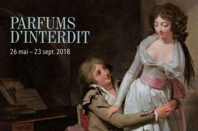 Affiche (détail) de l'exposition « Parfums d'interdit» au Musée Fragonard à Grasse.