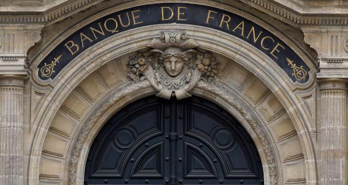 Le fronton de la Banque de France, à Paris, en mars 2018.