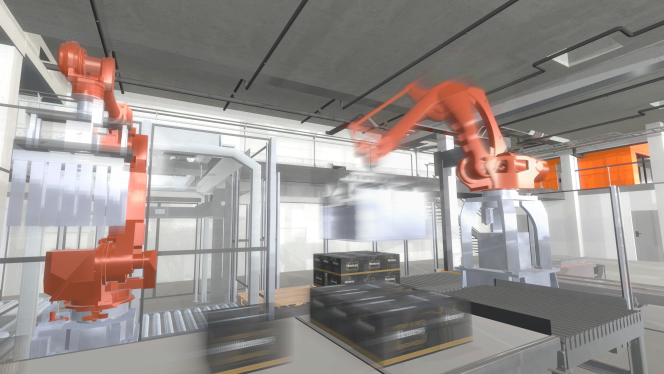 Une image de l'usine virtuelle d'Hennessy.