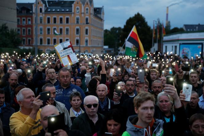 Manifestation à Chemnitz (Allemagne), le 30 août 2018.