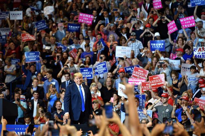 Donald Trump, lors d'un meeting pour soutenir le candidat républicain au Sénat Lou Barletta, à Wilkes-Barre (Pennsylvanie), le 2 août.