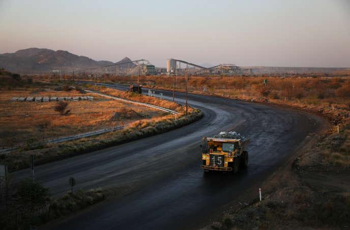 La mine de platine de Mogalakwena, dans la province de Limpopo, en Afrique du Sud, en septembre 2017.
