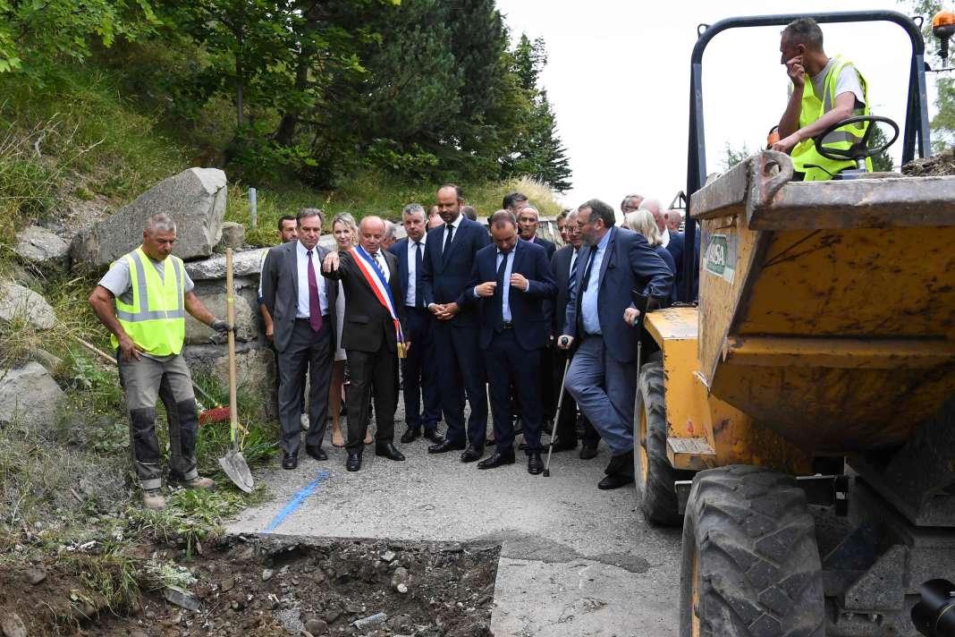 Le premier ministre Edouard Philippe à Chaillol (Hautes-Alpes), le 29 août, à l'occasion des Assises de l'eau.