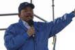 Le président du Nicaragua Daniel Ortega devant ses partisans à Managua, le 29 août.